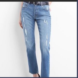 Gap CONE DENIM hi rise mom styley destructed jeans